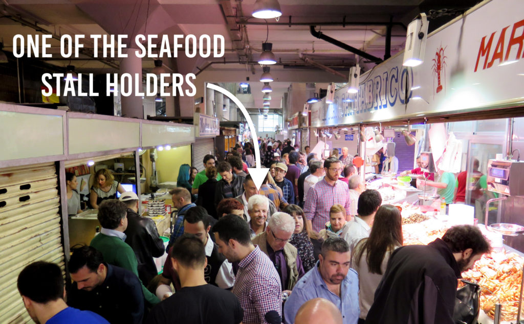 One of the Seafood Stall Holders
