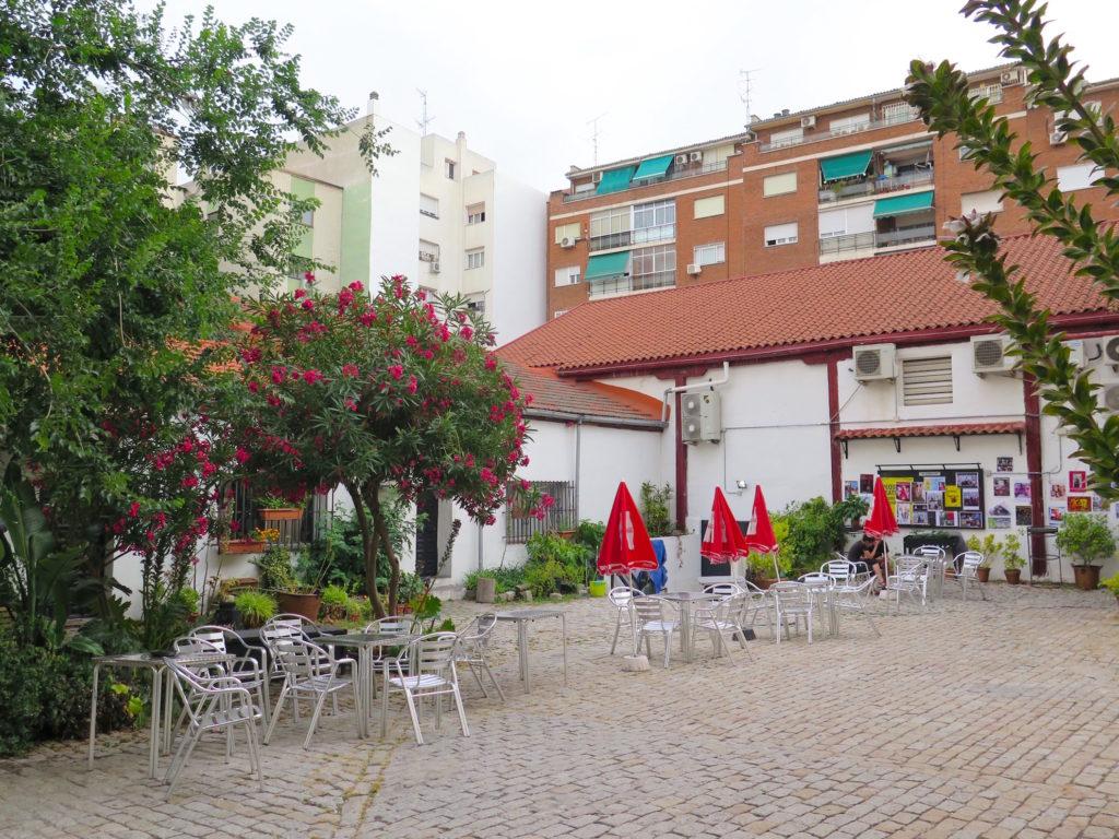 Mediterranean plants and the terrace of Theatre Sala Mirador