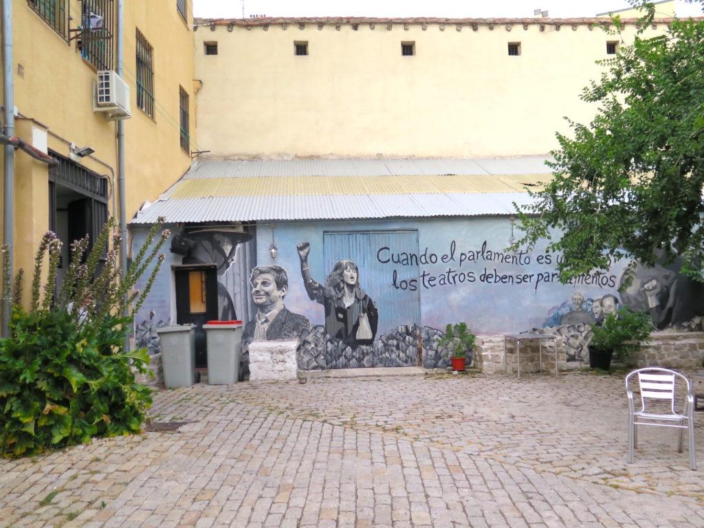 Grafitti on the walls of Sala Mirador