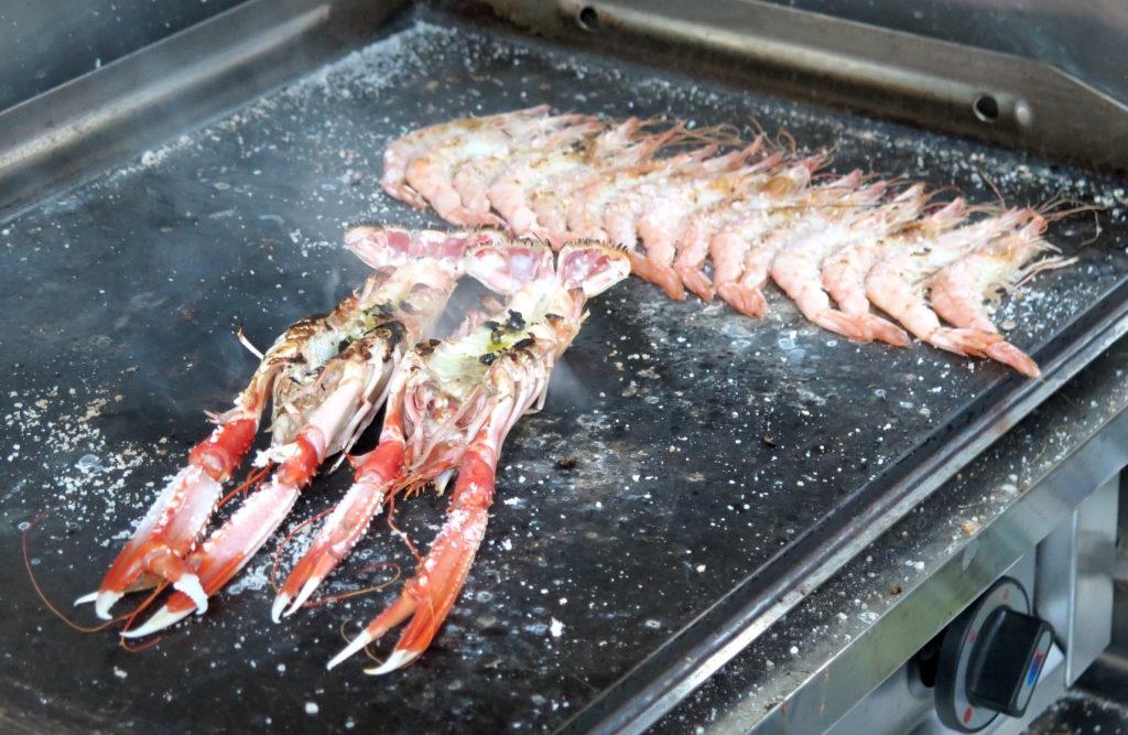 Prawns and Crayfish a la plancha (griddled)