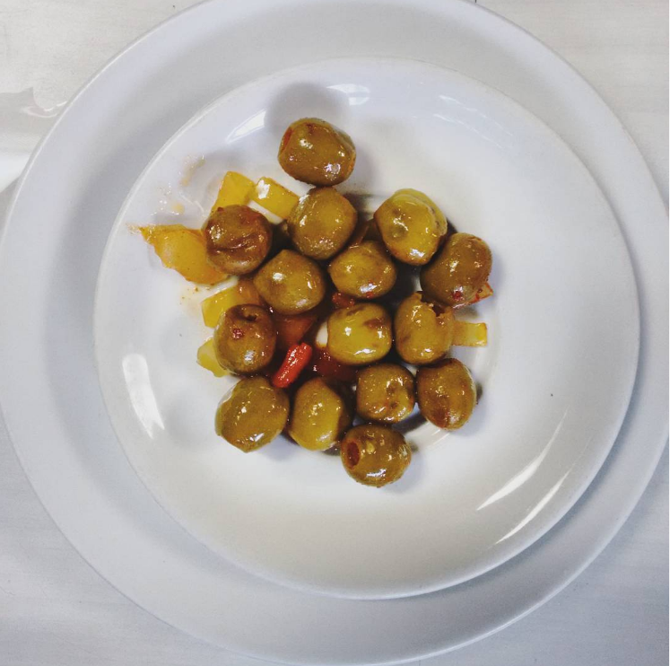 Spanish green olives - the most Madridleño tapa