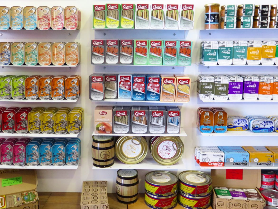 Tinned tuna, sardines, anchovies and more in Lisbon