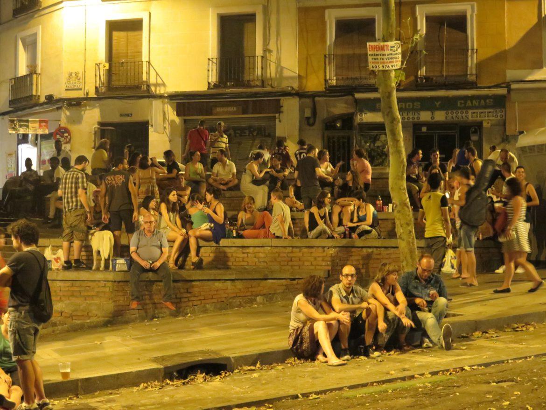 Botellón on Ribera de Curtidores during Fiesta San Cayetano