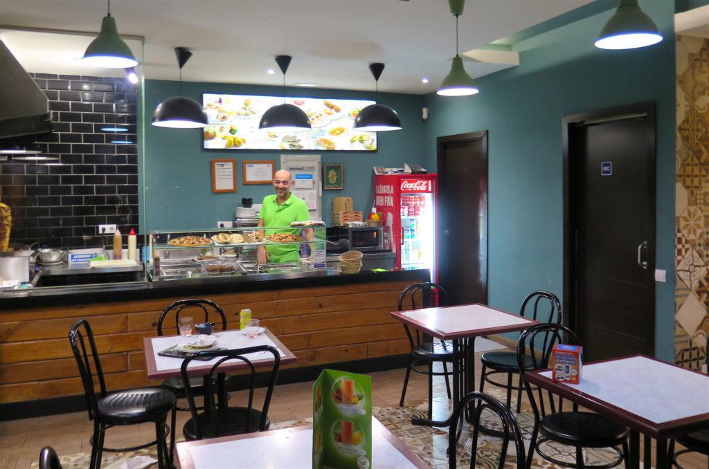 Fun Falafel's diner and owner