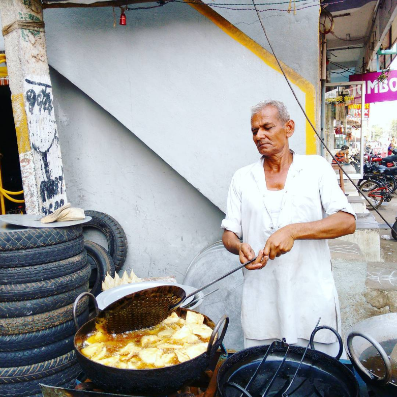 Street samosas in my Dad's hometown in South India