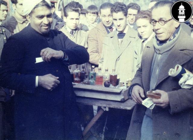 Karam Zafar and his perfume stand