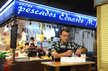 Pescadería Eduardo Pastor, a family business spanning two generations, has seen a lot of change during its 52 years here.