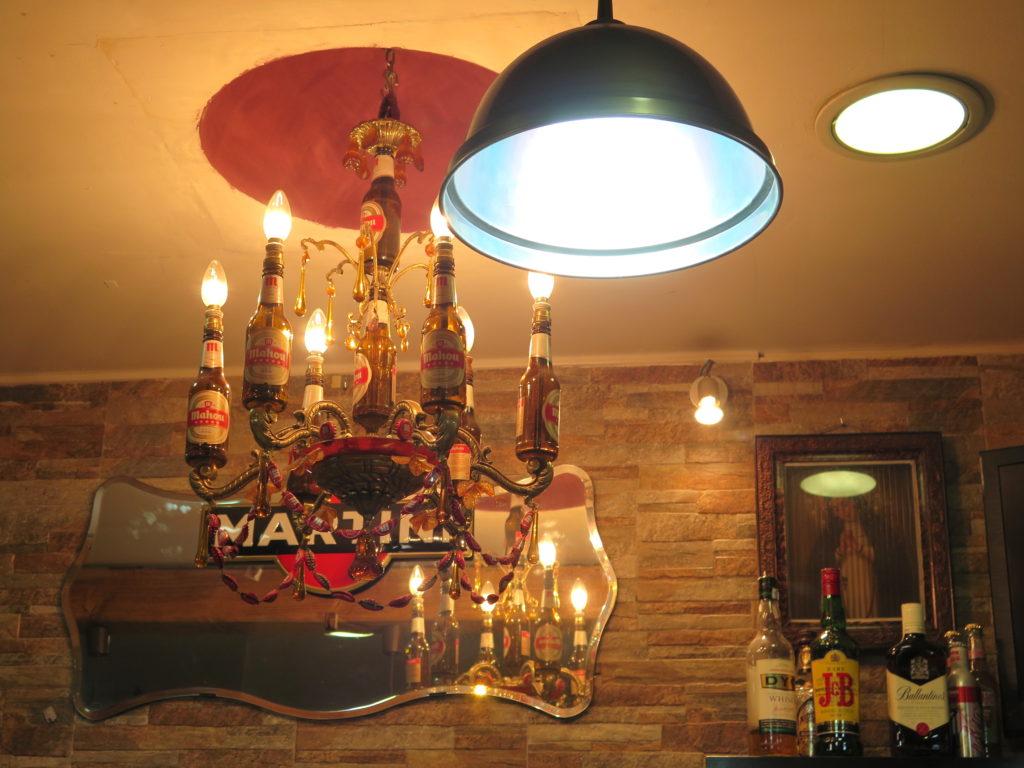 The iconic Mahou chandelier