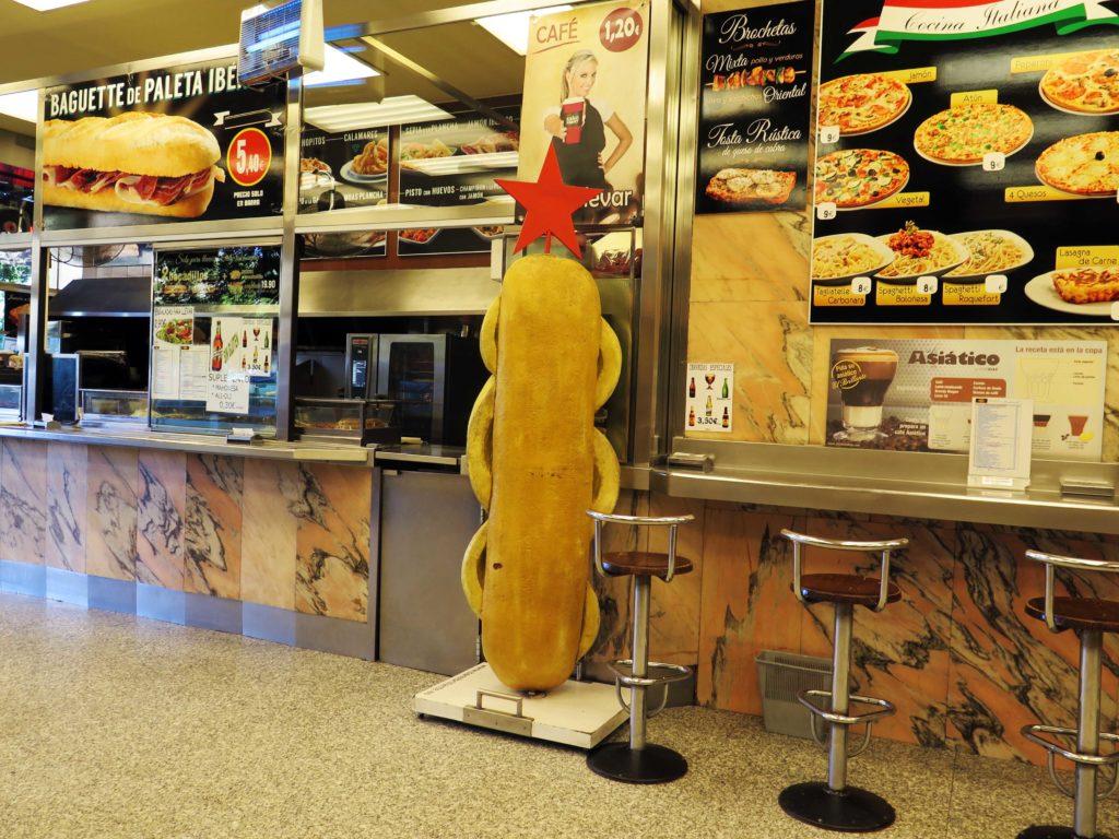 The biggest bocadillo de calamares in Madrid