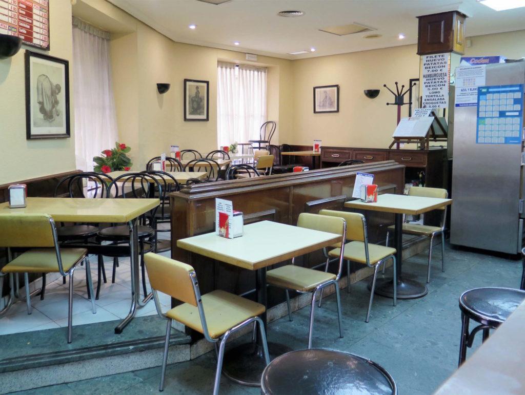 The retro dining area