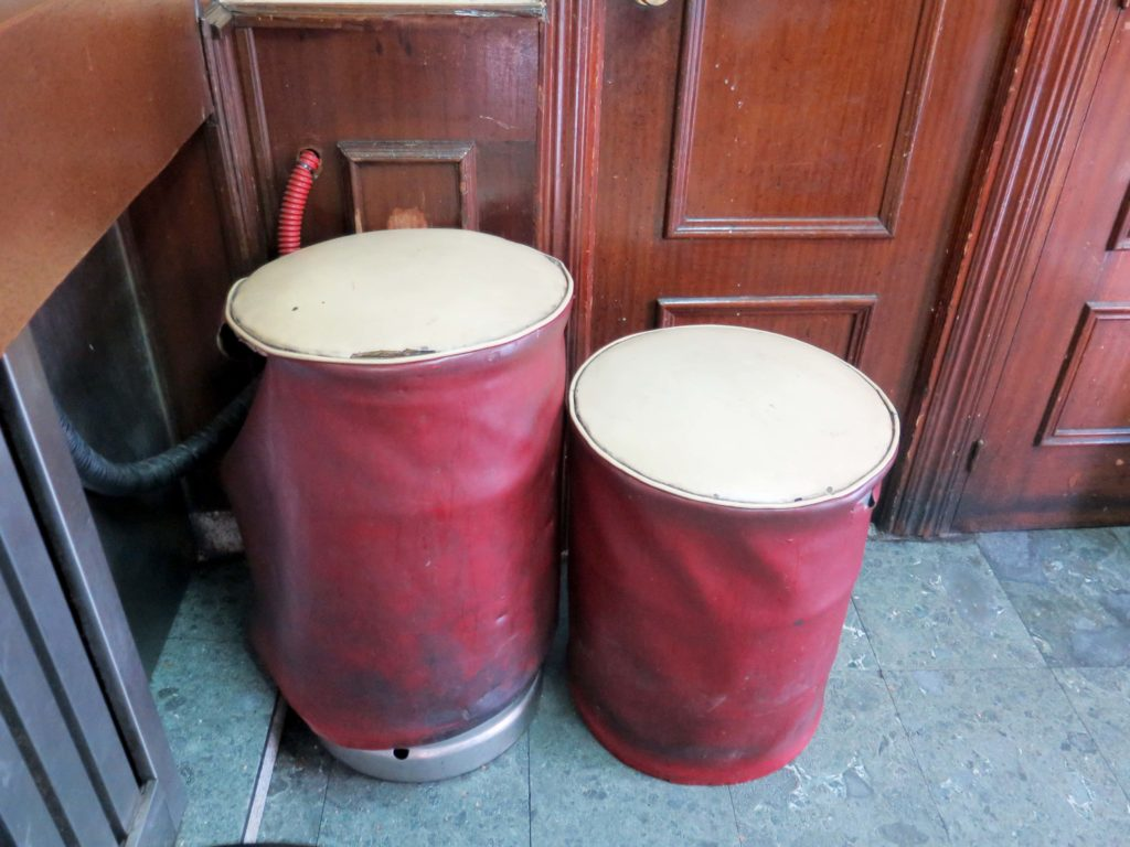 Beer barrels disguised as seating
