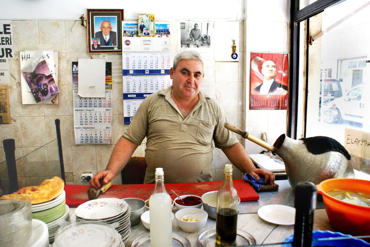 Owner of the traditional hummuseria in Antakya
