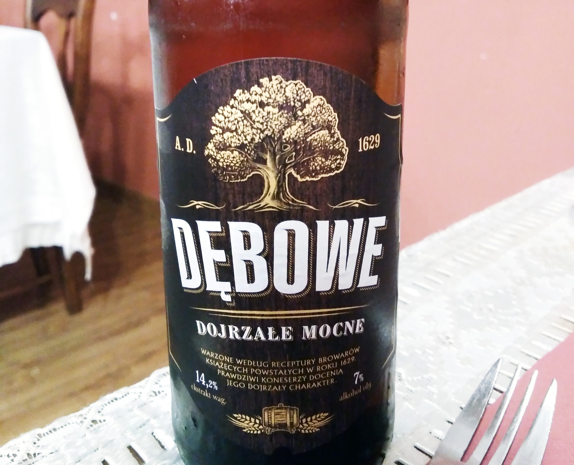 Dębowe (oak) Polish beer