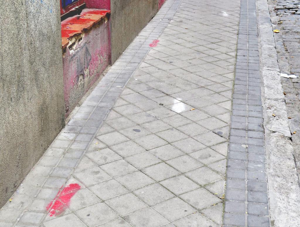 Atlético footprints leading from El Calderón to Neptúno via El Rastro