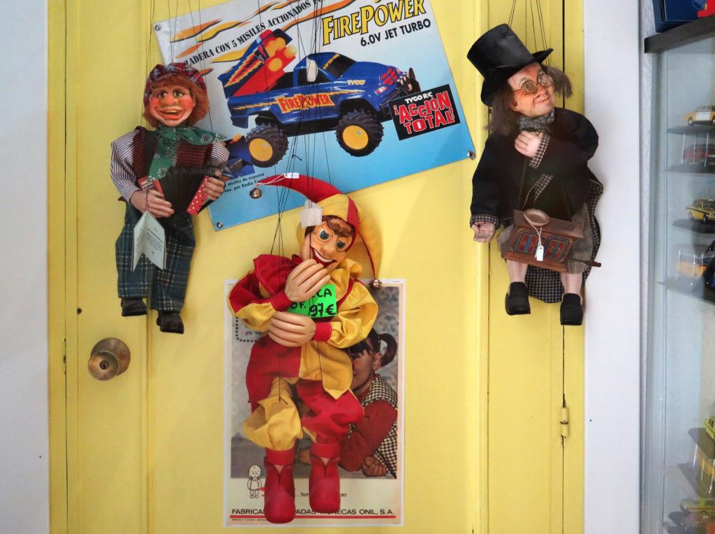 Three slightly creepy puppets from Prague