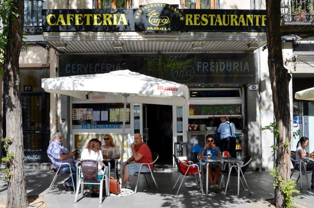 La Carpa's no-frills terrace
