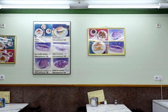 The dining area with photo-assisted menus