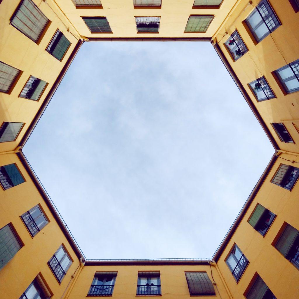 The secret hexagonal patio