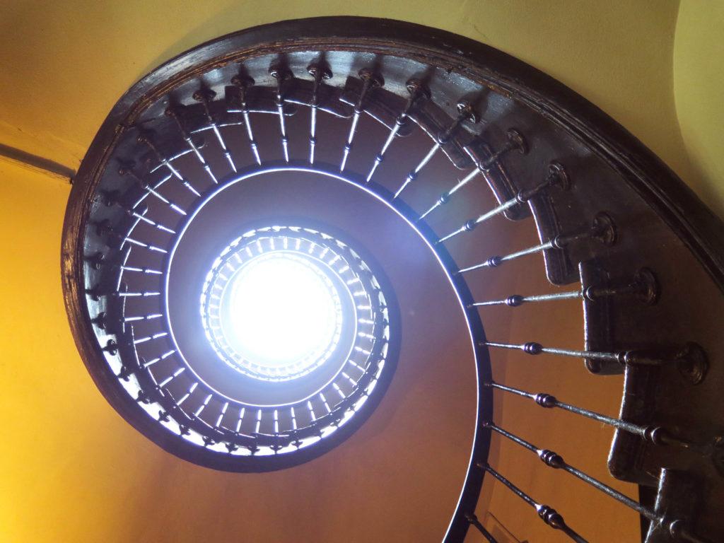 Hostal Olga's spiral staircase