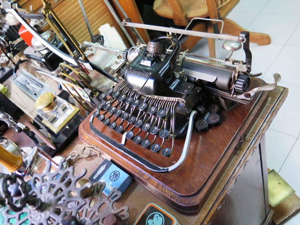 An antique German typewriter