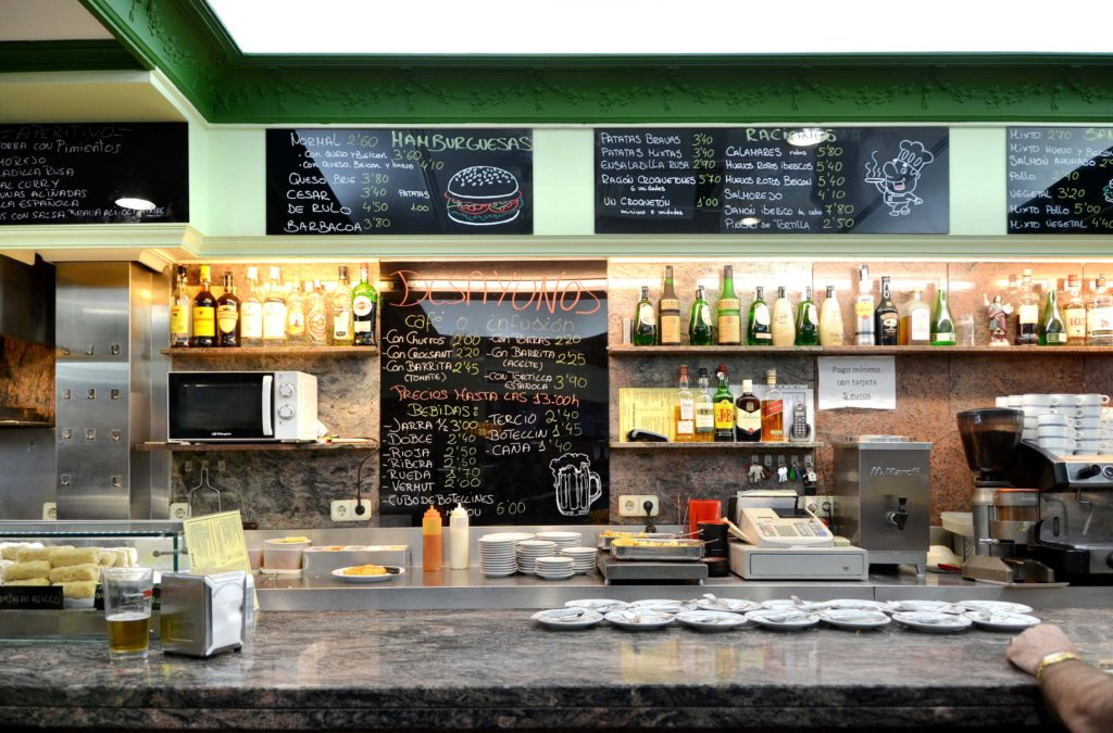 Behind Rocablanca's bar