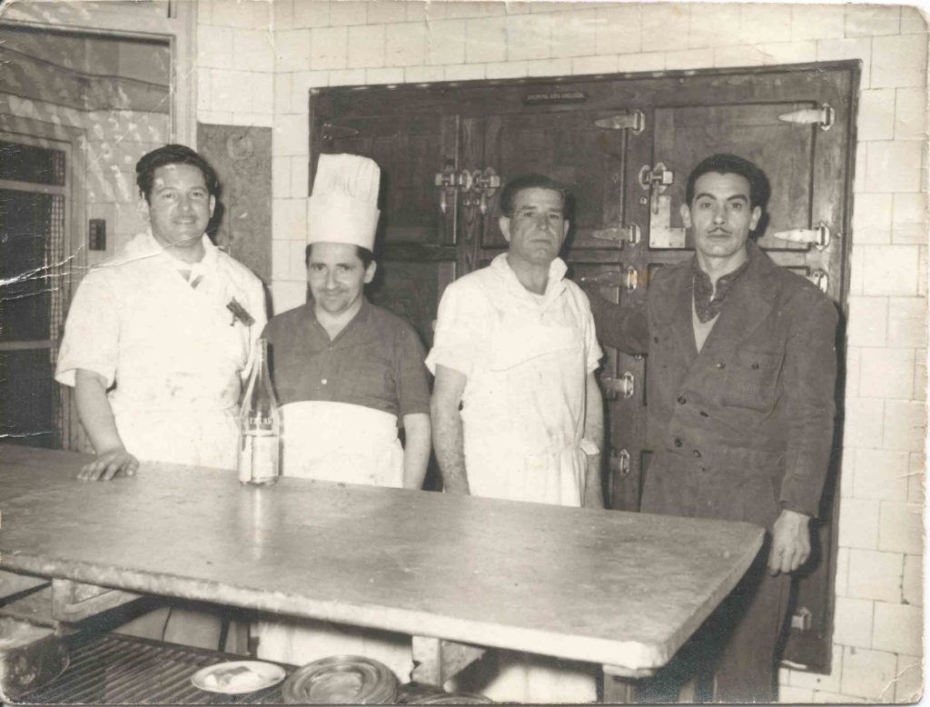 Staff at an old restaurant