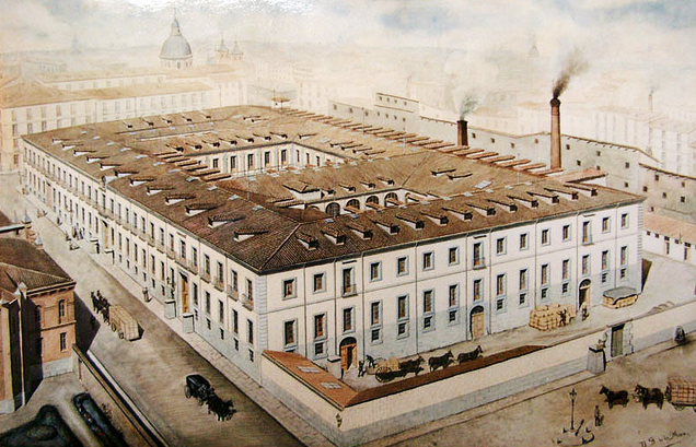 Painting of the tobacco factory (© La Tabacalera)