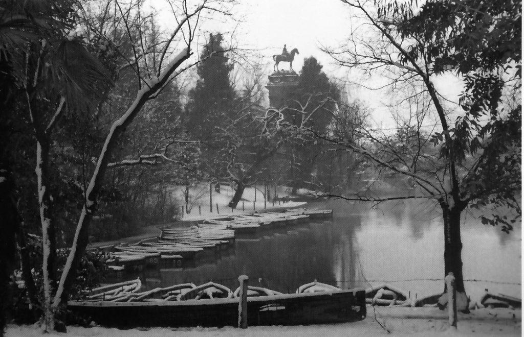 Retiro lake, 1945