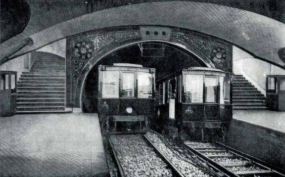 Metro station Tirso de Molina, 1929