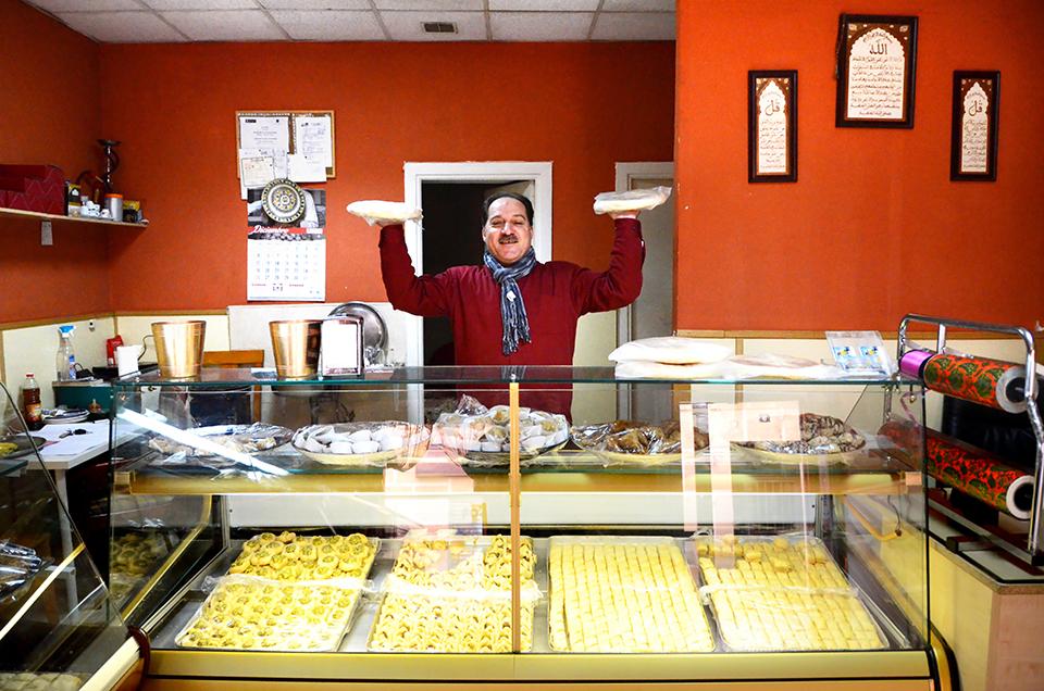 Jihad, owner of Syrian bakery Pastelería Salamat