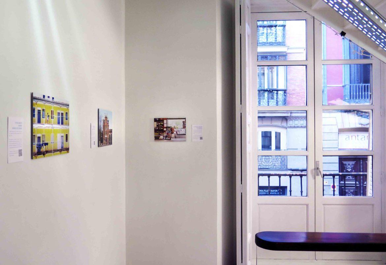 Madrid No Frills exhibition inside Far Home Hostel