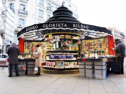 The kiosk at Bilbao metro