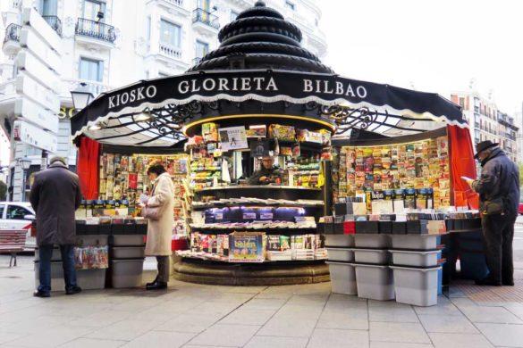 The kiosk at Bilbao metro