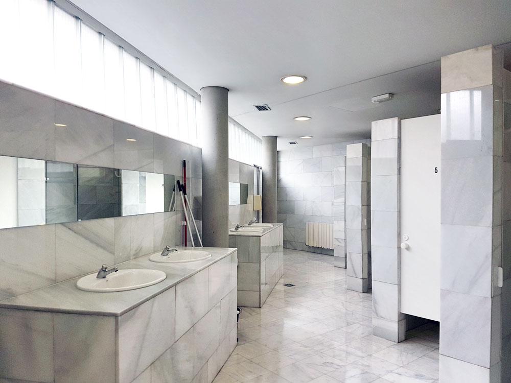 The women's bathroom