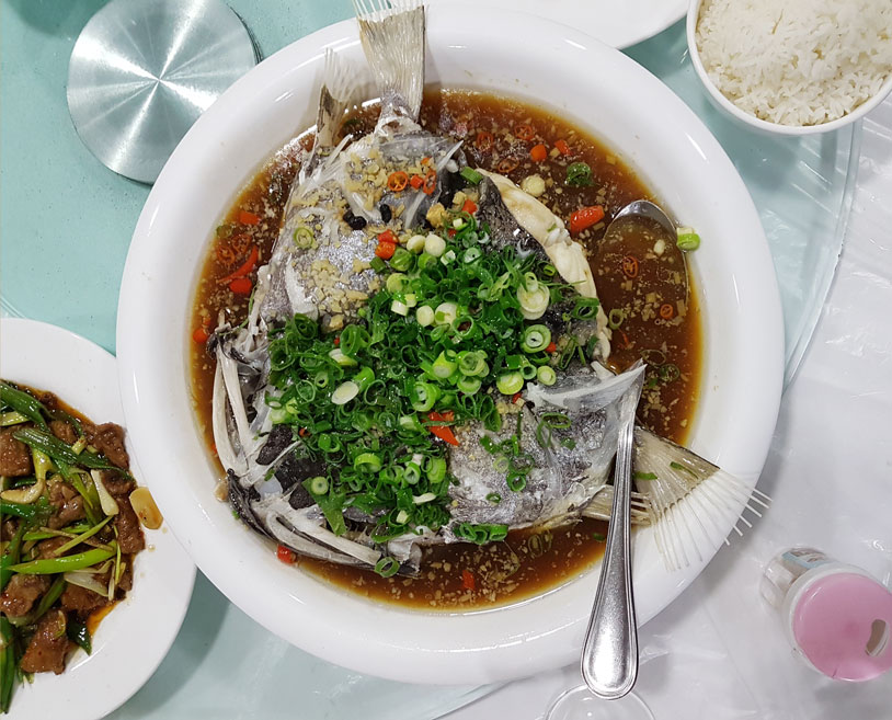 Fish head soup at Lao Tou
