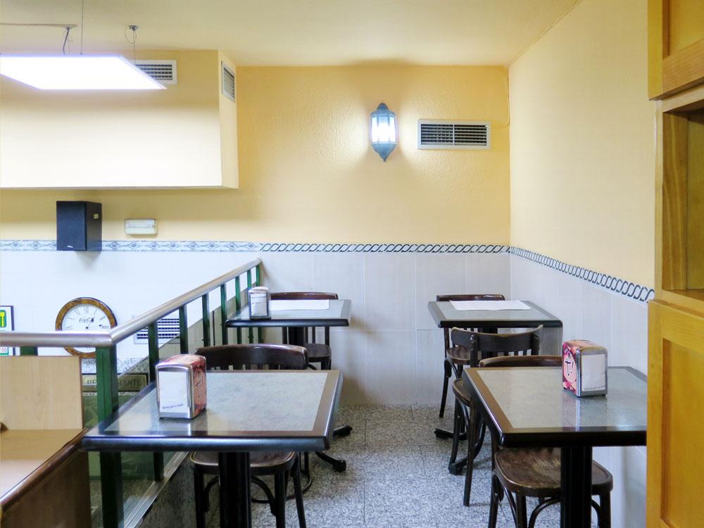 The back mezzanine dining area