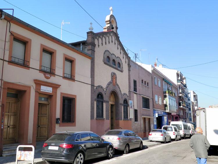 The old facade of Parroquia de Cristo Rey