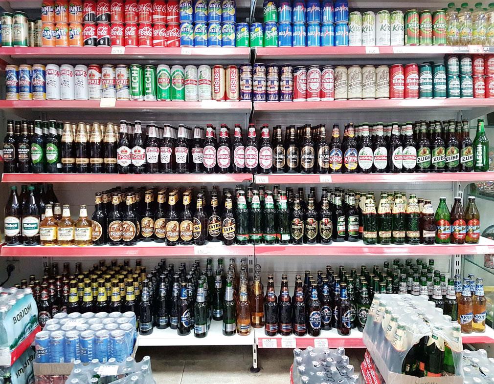 Lots of Eastern European beers