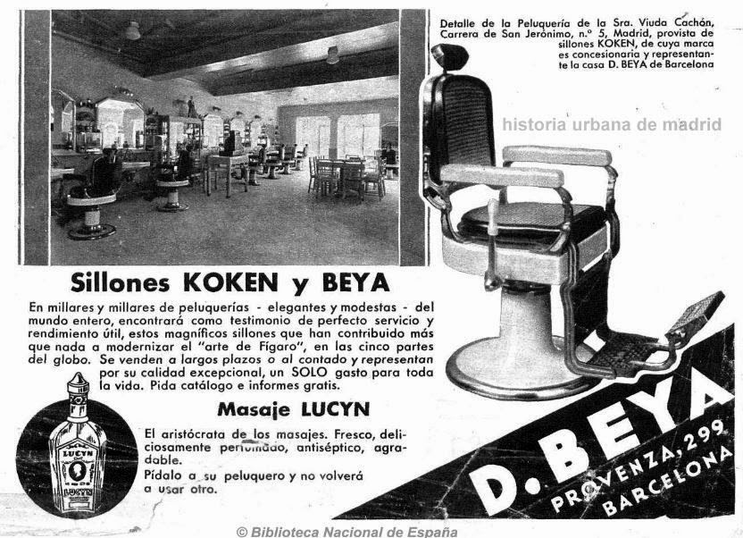 A 1933 advert for the Koken chairs