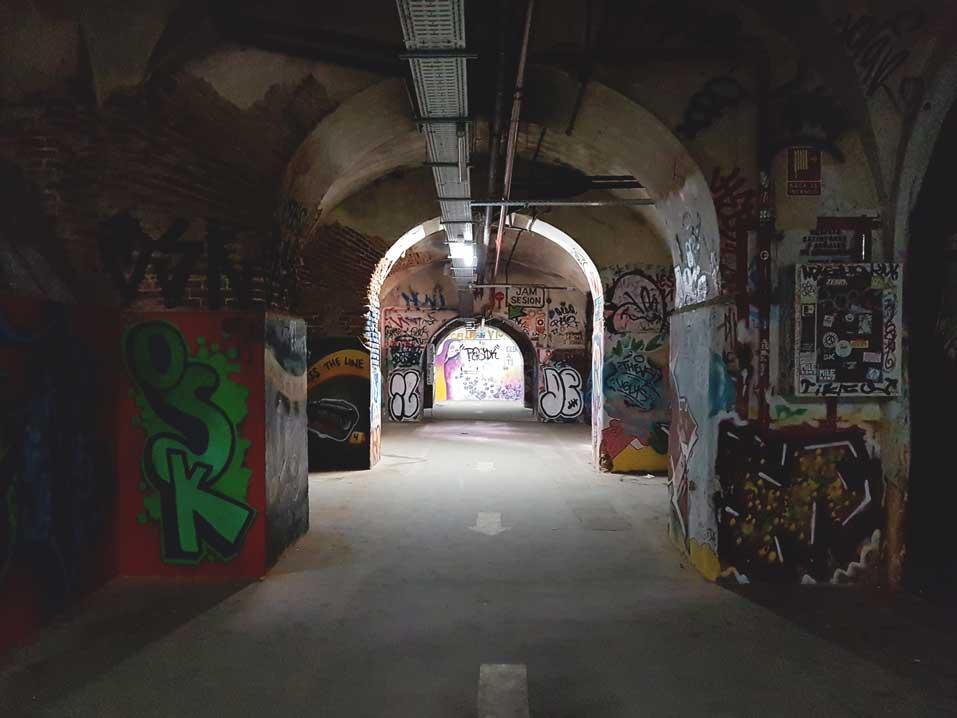 Basement tunnels of La Tabacalera