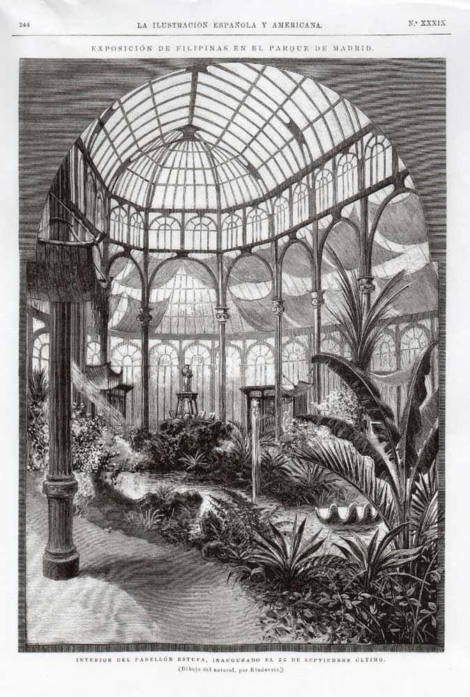 The exotic gardens inside the Crystal Palace