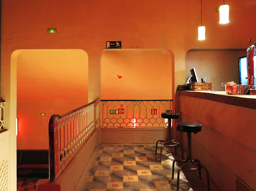 The mezzanine bar