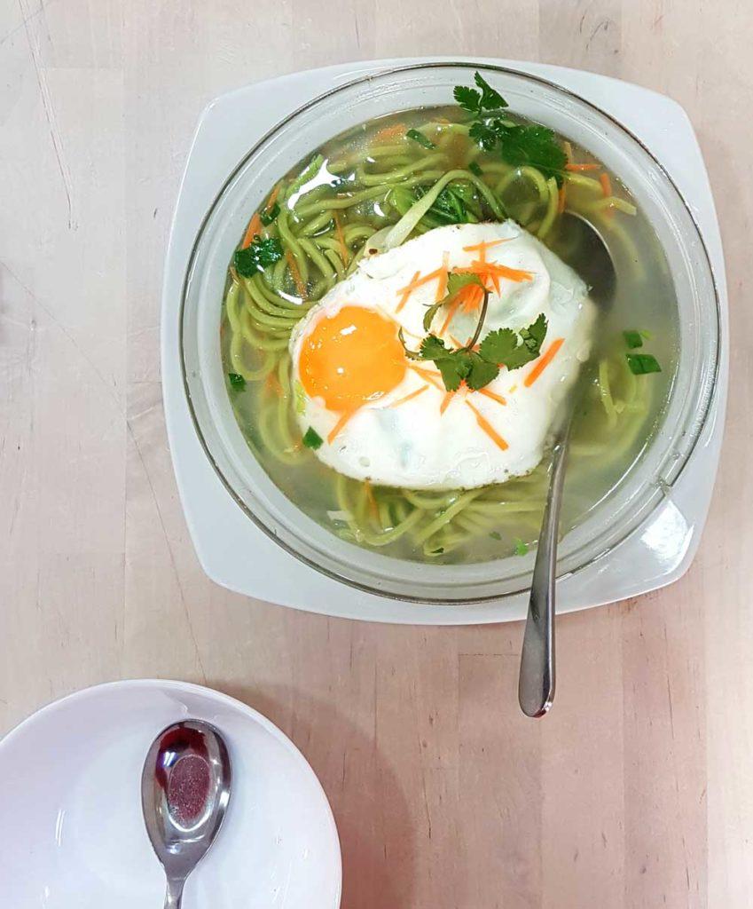 Handmade veg noodles