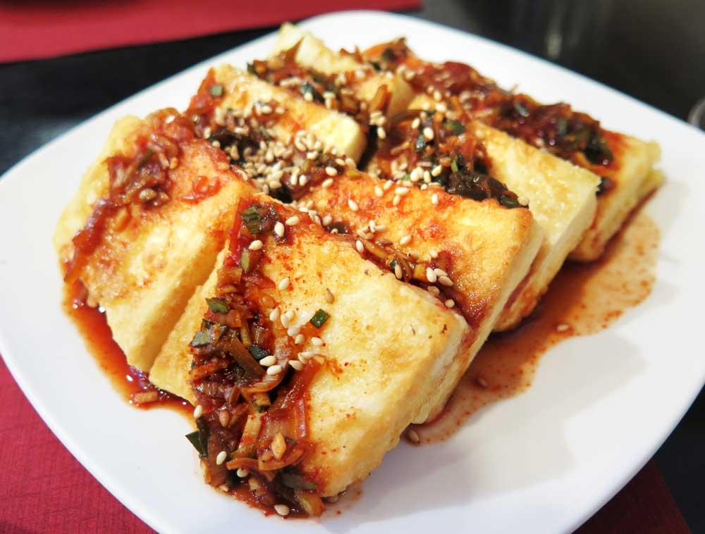 Tofu and kimchi