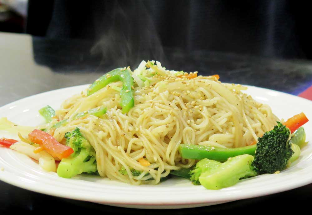 An adapted veggie noodle dish