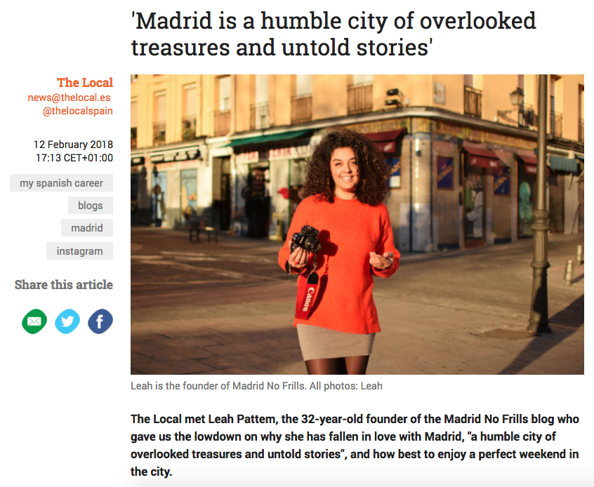 An article about Madrid No Frills in The Local Spain