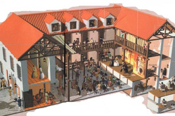 Diagram of a traditional corrala theatre