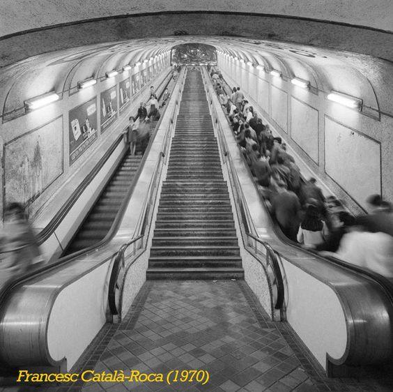 Once the longest escalator in Europe (Plaza de España)