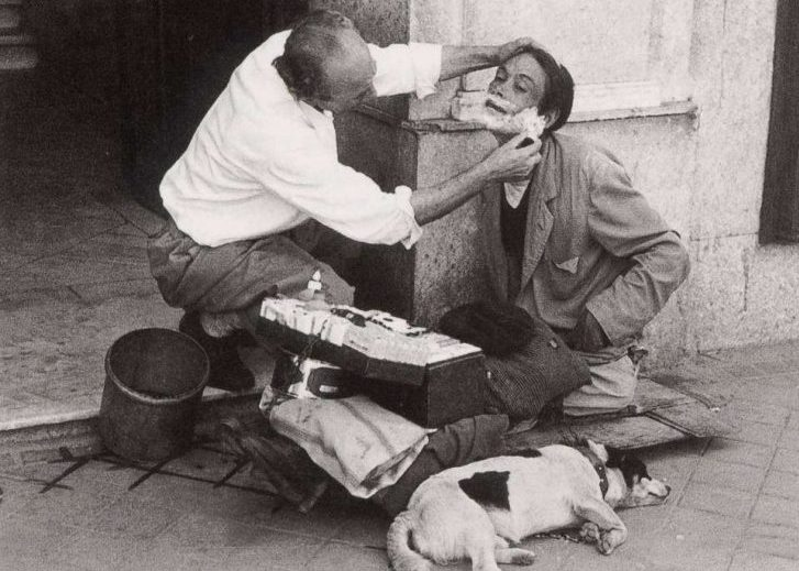 The street barber