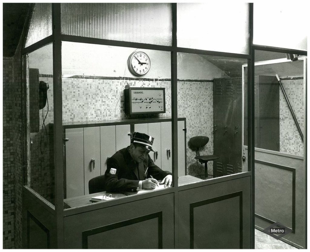 The old station office cabin in Carabanchel metro